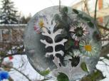Šeduvos lopšelį-darželį papuošė vaikų kurtos ledo dekoracijos