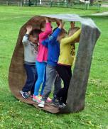 Vaikai ir tėvai darželyje sportavo kartu