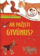 Ar pažįsti gyvūnus? Knyga su lipdukais + plakatas
