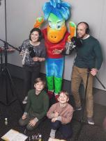 Stakėnai – pirmoji šeima Lietuvoje, įgarsinusi animacinį filmuką
