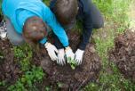 Vaikų pojūčius atveria žaliosios erdvės