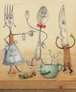 Vaikų žodyno turtinimas indų ir virtuvės / stalo įrankių pavadinimais