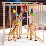 Savo gimtadienio dovanas vaikai atidavė zoologijos sodo žirafoms