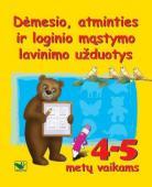Dėmesio, atminties ir loginio mąstymo lavinimo užduotys 4-5 m.vaikams