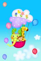 """""""Linksmasis oro balionėlis"""" - surask 6 skirtumus"""