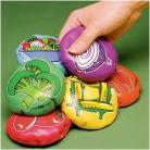 Žaislinės pagalvėlės su daržovių ir vaisių atvaizdais (12 vnt.)