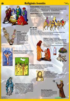 Religinės šventės. Plakatas
