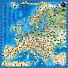 Europos žemėlapis vaikams